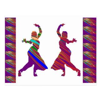 DANCING Girls :  Indian Bollywood Style Dance Postcard