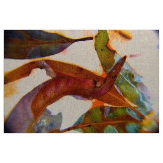 Dancing Gum Leaves artwork by TribalMysticArt Fabric