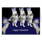 Dancing Hanukkah Kitties Card