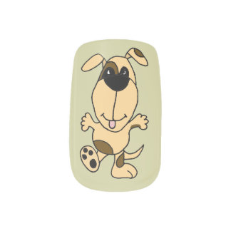 Dancing Happy Dog Minx Nail Art