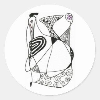 """""""Dancing Hen"""" Abstract Design Sticker"""