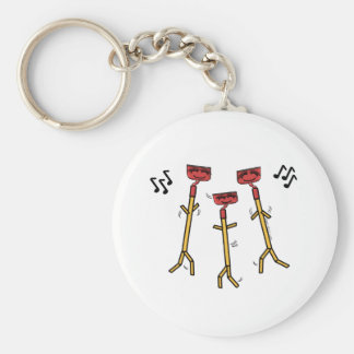 Dancing Hoes Basic Round Button Key Ring