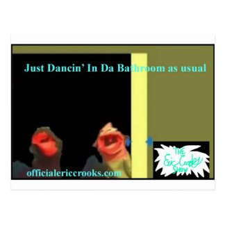 Dancing in the bathroom postcard