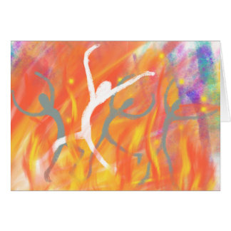Dancing in the Furnace Christian Modern Art Design Card