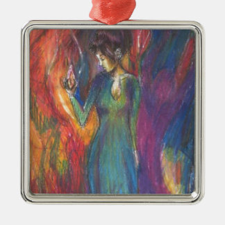 Dancing In the Light of Heartbreak Metal Ornament