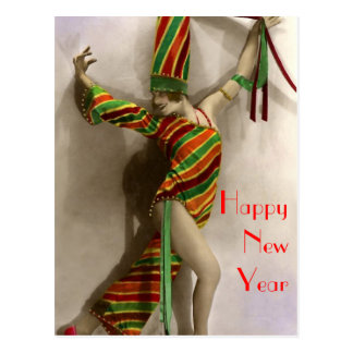 Dancing in the New Year Postcard
