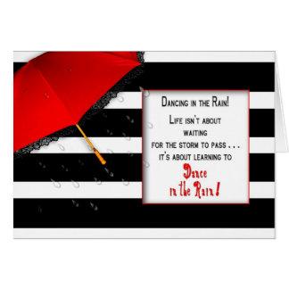 Dancing in the Rain Mug -  Encouragement Greeting Card