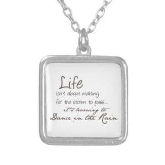 Dancing In The Rain Silver Plated Necklace