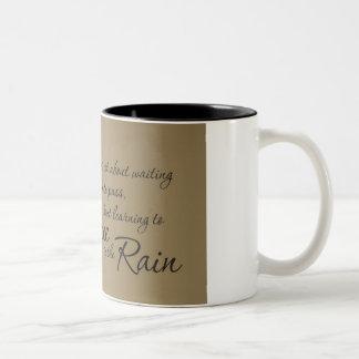 Dancing in the Rain Two-Tone Coffee Mug
