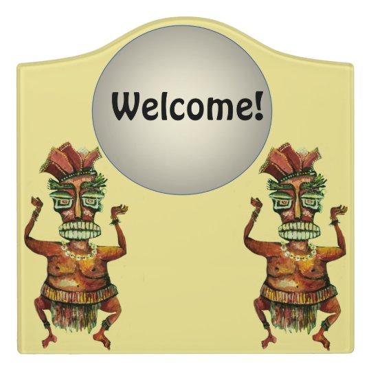 Dancing Indians - Funny Welcome Door Sign