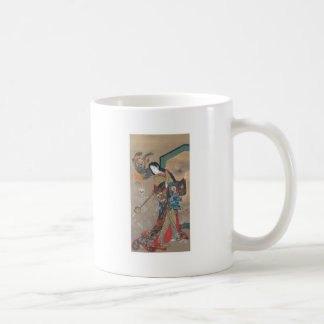 Dancing Japanese Skeletons, Skeleton with Guitar Coffee Mug