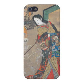 Dancing Japanese Skeletons, Skeleton with Guitar iPhone 5 Cases