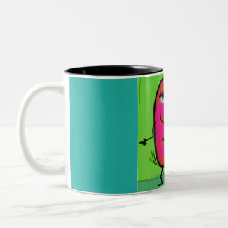 Dancing kidney Two-Tone coffee mug