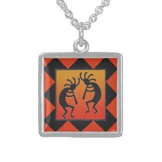 Dancing Kokopelli Desert Sunset Southwest Tribal Custom Necklace