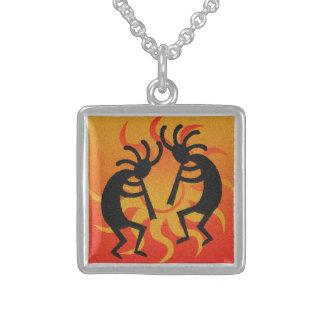 Dancing Kokopelli Sunset Southwest Tribal Sun Necklace