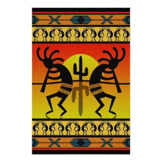 Dancing Kokopelli Tribal Wall Art