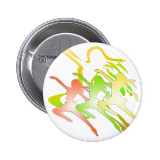 Dancing ladies theme 6 cm round badge