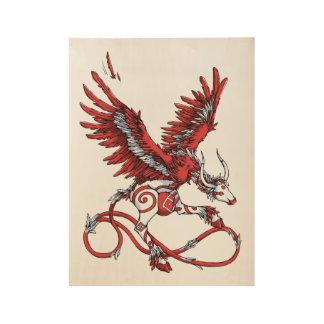Dancing Ladybird Wood Poster