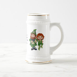 Dancing Leprecauns Pixel Art St. Patrick's Day Coffee Mug