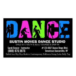 Dancing Lessons or Dance Studio Pack Of Standard Business Cards