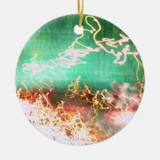Dancing Lights Round Ceramic Decoration