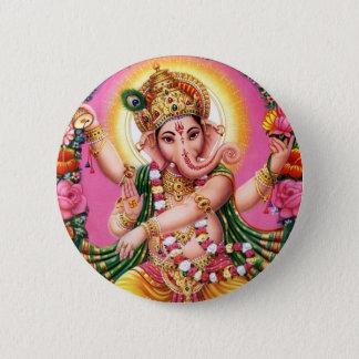 Dancing Lord Ganesha 6 Cm Round Badge