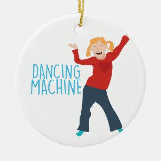 Dancing Machine Ceramic Ornament