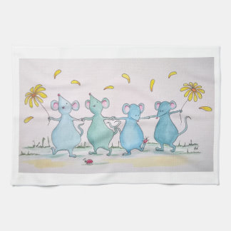 Dancing Mice Tea Towel