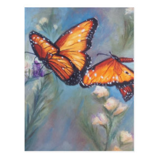 Dancing Monarchs Post Card