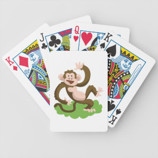 dancing monkey bicycle playing cards