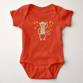 Dancing monkey orange Baby Jersey Bodysuit