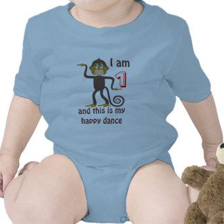Dancing monkeys, 1st birthday, personalized baby creeper