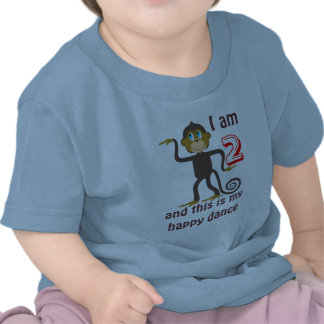 Dancing monkeys, 2nd birthday, personalized tshirt
