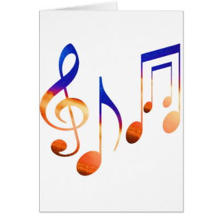 Dancing Music Signs Greeting Card