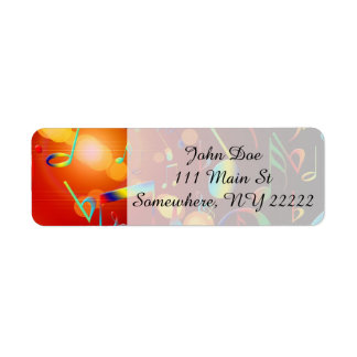 Dancing Musical Notes Return Address Label