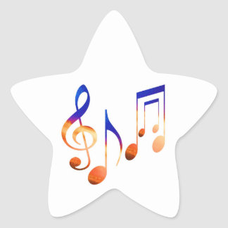 Dancing MusicAL Signs SYMBOLS SHEET MUSIC Star Sticker