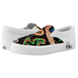 Dancing Notes Slip On canvas Printed Shoes
