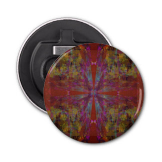 Dancing on Red Abstract Design Bottle Opener