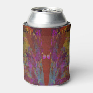 Dancing on Red Abstract Design Can Cooler