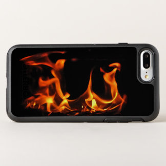 Dancing Orange Fire Black OtterBox Symmetry iPhone 8 Plus/7 Plus Case