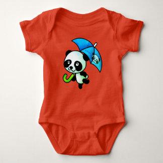 Dancing Panda with Umbrella Baby Bodysuit