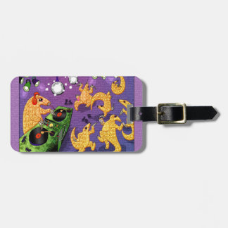 Dancing pangolins luggage tag