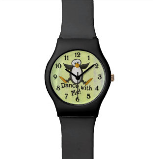 Dancing Penguin Wrist Watch