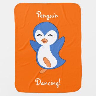 Dancing Penguin Swaddle Blankets