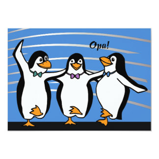 Dancing Penguins Invitation