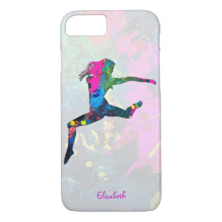 Dancing People Abstract Colors iPhone 7 Case