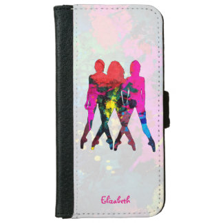 Dancing People Abstract Colors Wallet Case iPhone 6 Wallet Case