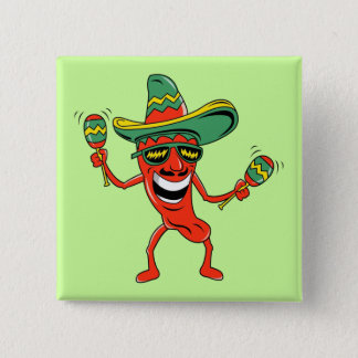 Dancing Pepper Cinco de Mayo Button