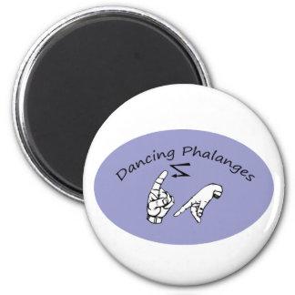 dancing phalanges 6 cm round magnet