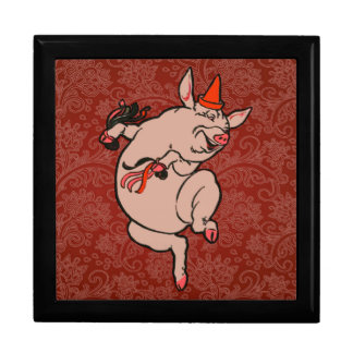Dancing Pig Vintage Cute Dancer Gift Box